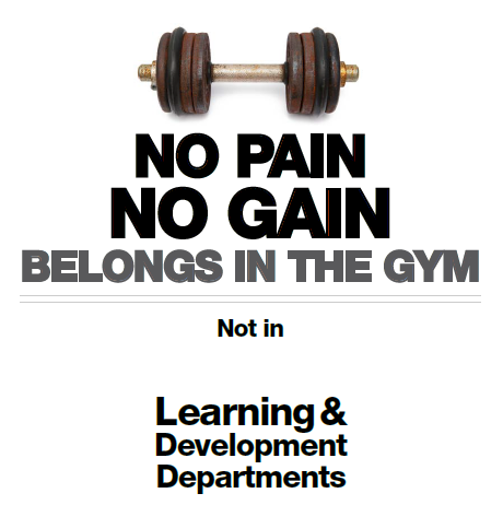 "I Believe in the Saying, ""No Pain, No Gain."""